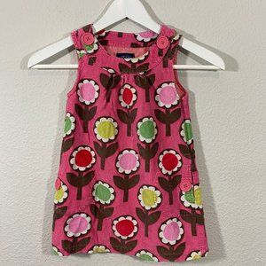 Mini Boden Girls Mod Tweed Floral Dress w/ Buttons